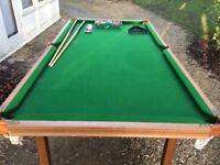 Children's indoor snooker table.