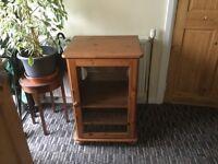 Pine TV Cabinet with Glass Door