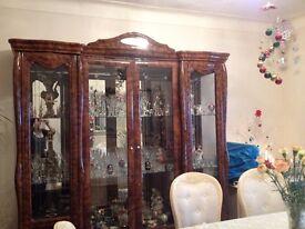 Italian 4 door display cabinets