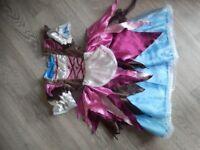 Girls Princess Cinderella x 2 Fancy Dress Up Costume 3-4 years