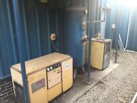 Hpc plusair screw compressor with air dryer and tank in good condition cheap!!!