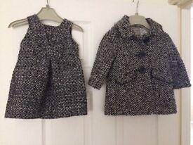Winter coat and matching dress
