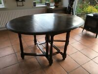 Drop Leaf solid wood dining table