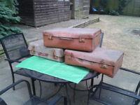 3 suitcase case luggage cases (Loft find) Vintage / Antique / Retro FREE LOCAL DELIVERY