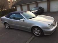 2001 Mercedes CLK320 Convertible, low mileage, long MOT, FSH, may SWAP/PX why?