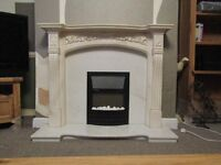 Louis Marble Fire Surround including electric flame effect fire