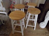 4 x Pine stools