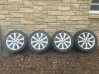 Alloy wheels for Range Rover or VW van.