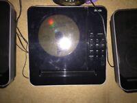 Radio, CD player and iPod doc