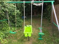Garden swing kids metal frame