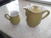 Denby (ode design) coffee pot and milk jug