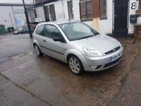2004 FORD FIESTA SILVER GHIA WITH FULL LEATHER