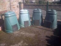 4 off - Plastic Compost Bins