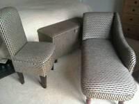 Superking Headboard Chaise Longue Ottoman & Chair