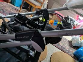REDUCED Pushchair Pram with Isofix Child with Base seat Switch Pram Mamas and Papas with rain cover