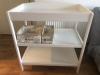 Wooden white changing table