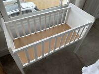 Mothercare White 'Hyde' Crib Small Cot