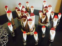 Wooden Santa's