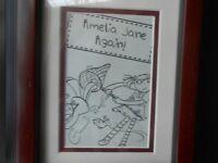 4 Enid Blyton prints in their frames