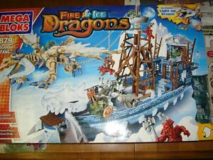 Mega Bloks Dragons: 9879 Vorgan Ice Fang – NIB