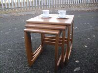 Super Solid Wood Modern Retro Styled Nest Of 3 Tables