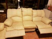 Leather 2 & 3 seater recliners