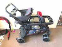 Double buggy/pushchair/Pram/stroller (Graco brand) + Graco car seat,