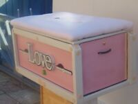 hand made ottoman storage trunk and foot stool