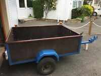Tipping trailer 5ft x 4ft approx - based on Indespension frame
