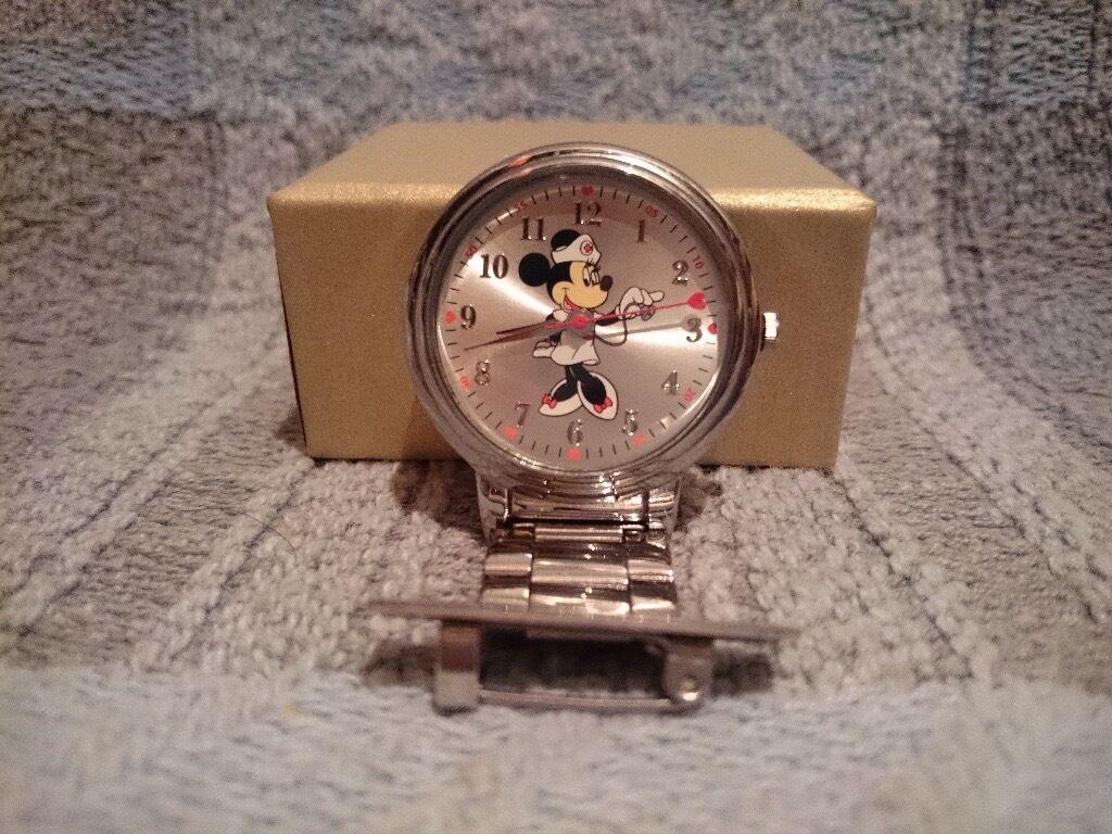 Minnie Mouse Nurses Fob Watch