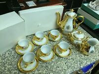Golden teacups set