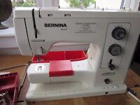 Bernina 830 Sewing Machine with teak cabinet