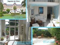 Normandy, Termal City, residence of 1889 renovated Flat 1 Bed+garden+view of lake - sale in France