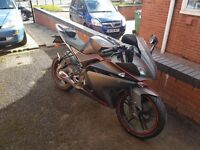 Yamaha yzf r125. Matte grey with red detailing. Great bike, tax/mot feb 18. 14k mileage