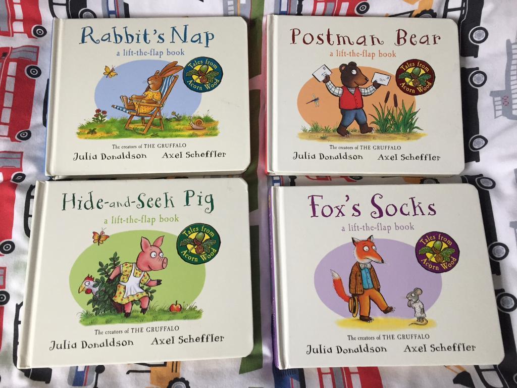 4 x Julia Donaldson&Axel Scheffler loft the flap books