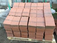 """Red """"Acme"""" clay Roof Tiles and Fan Ridges for sale"""
