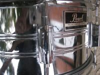 """Drums - Pearl Export Vintage 80's 14"""" x 6 1/2"""" Snare Drum and Sticks"""