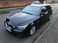 2007 BMW 520d TOURING ESTATE M SPORT FULL SERVICE HISTORY 12 MONTHS MOT 1 PREVIOUS OWNER 2 KEYS