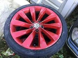 """Vw scirocco alloys 18"""" Can send by post Vito Audi seat"""