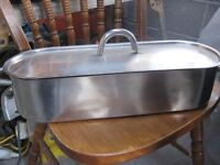 STAINLESS STEEL FISH KETTLE POACHING PAN STEAMER WITH LIFTING RACK