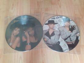 2 x mel & kim picture discs stock aitken 80s