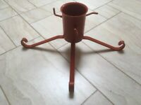 Red Metal Christmas Tree Stand for a Real Tree