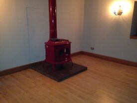 Woodburner/MultiFuel Vermont Castings Stove and flue 12kw output