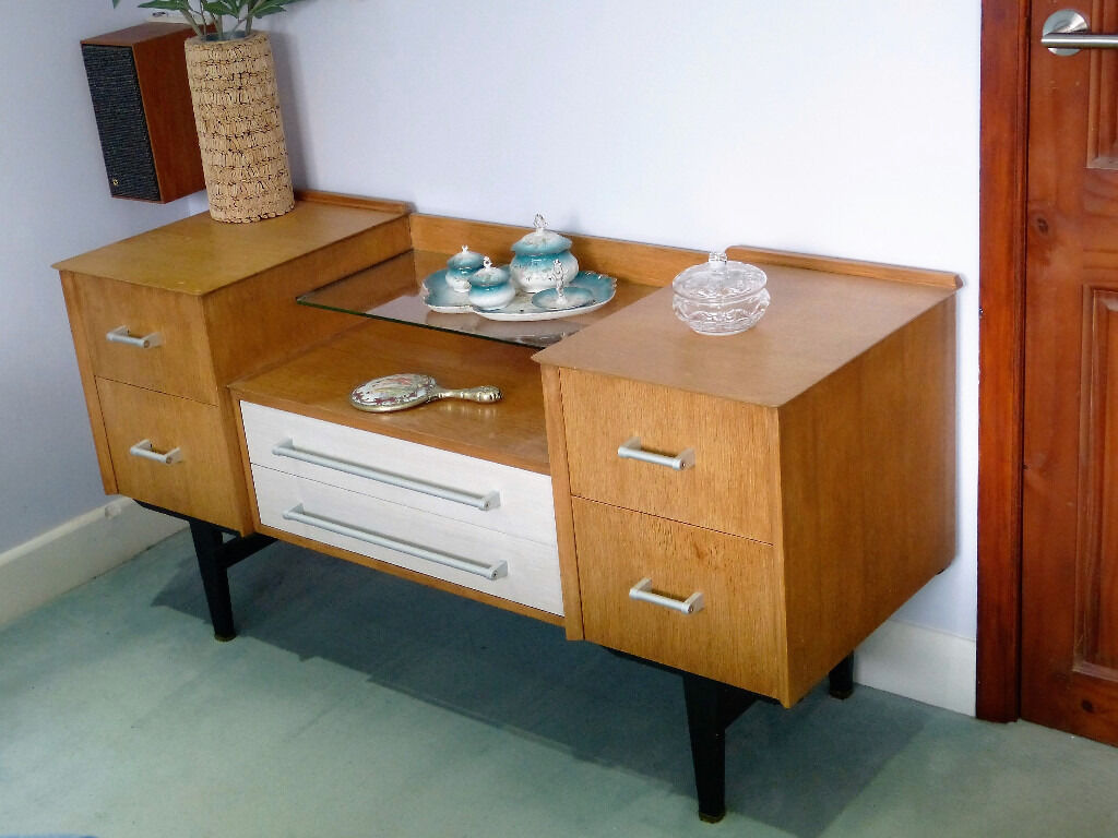 Limed Oak Bedroom Furniture 50s 60s Retro Vintage Limelight Bedroom Dressing Table