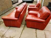 Sofa. 2 seater sofa and 2 arm chairs.