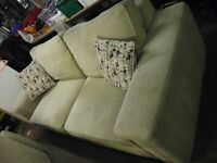 2 TWO SEATER SOFAS IN BEIGE ( 1 LEFT £10 TO CLEAR )