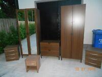 walnut bedroom set