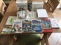 Wii Console Wii Fit board and games