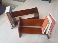 Pair of desktop bookshelves