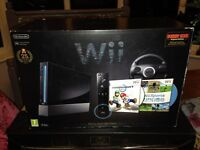 Boxed Limited Edition Wii Black Console with Games & Extras